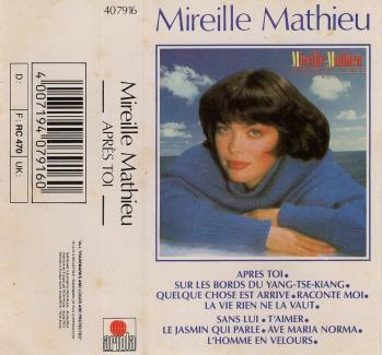 Apres toi cassette audio 1986