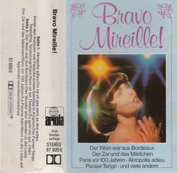 Cassette audio bravo mireille 1977