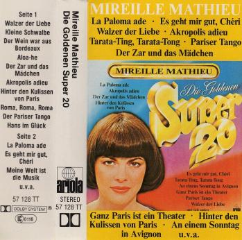 Cassette audio die goldenen super 20 1977