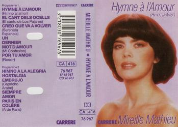 Cassette audio hymno al amor 1990