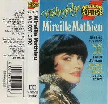 Cassette audio welterfolge aus paris 1987
