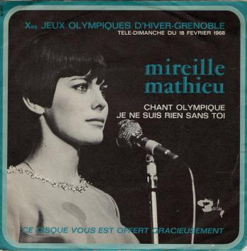 Chant olympique disque jeux olympiques d hiver grenoble 1968