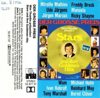 Der grosse preis stars und ihre goldenen hits cassette audio 1976