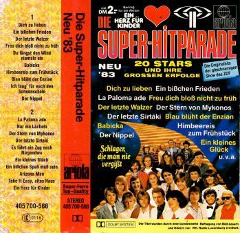 Die super hitparade cassette audio 1983
