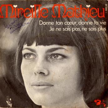 Donne ton coeur donne ta vie juke box 1970