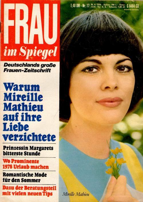 Frau im spiegel n 17 avril 1978