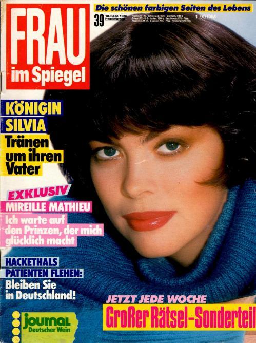 Frau im spiegel n 39 septembre 1986