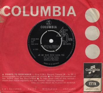 Je ne suis rien sans toi uk 1968