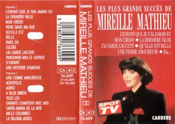 Les plus grands succes de mireille mathieu cassette audio