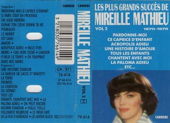 Les plus grands succes de mireille mathieu vol 2 cassette audio
