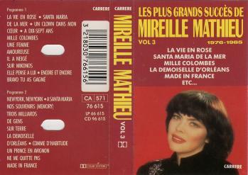 Les plus grands succes de mireille mathieu vol 3 cassette audio