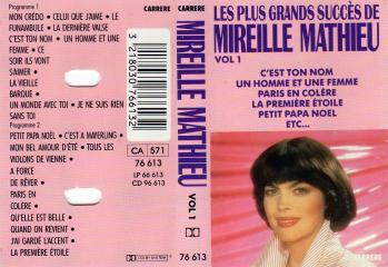 Les plus grands succes de mireille mathieu vol 1 cassette audio