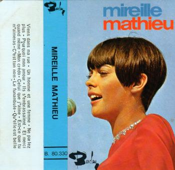 Mireille mathieu cassette audio 1966