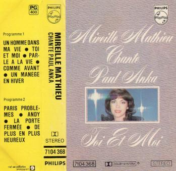 Mireille mathieu chante paul anka toi et moi cassette audio
