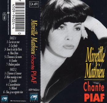 Mireille mathieu chante piaf cassette audio