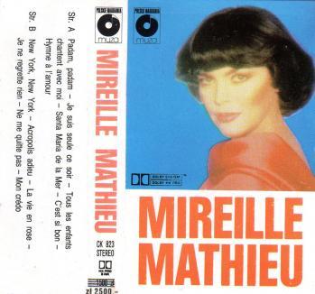 Mireille mathieu compilation polonaise cassette audio