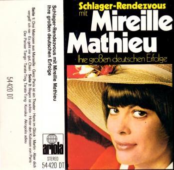 Schlager rendezvous mit mireille mathieu cassette audio