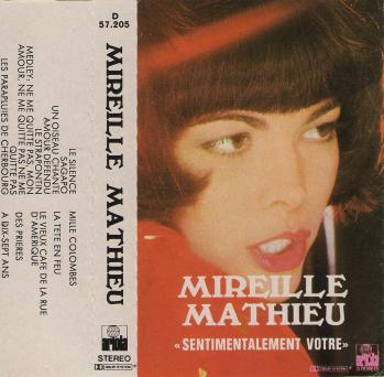 Sentimentalement votre cassette audio espagne 1974