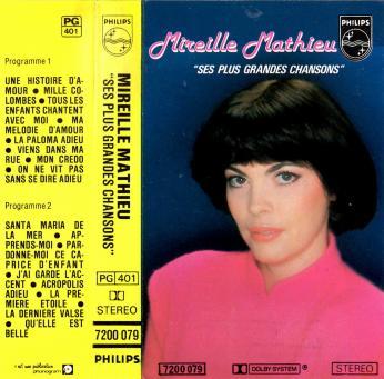 Ses plus grandes chansons cassette audio