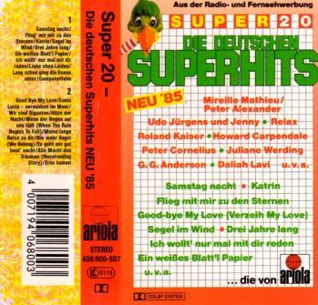 Super 20 die deutschen superhits neu 85